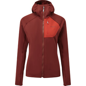 Rab Superflux Hoody Women, oxblood red/ascent red